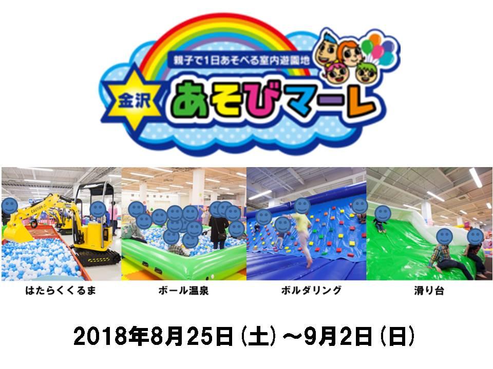 2018 親子で1日遊べる室内遊園地 金沢あそびマーレ