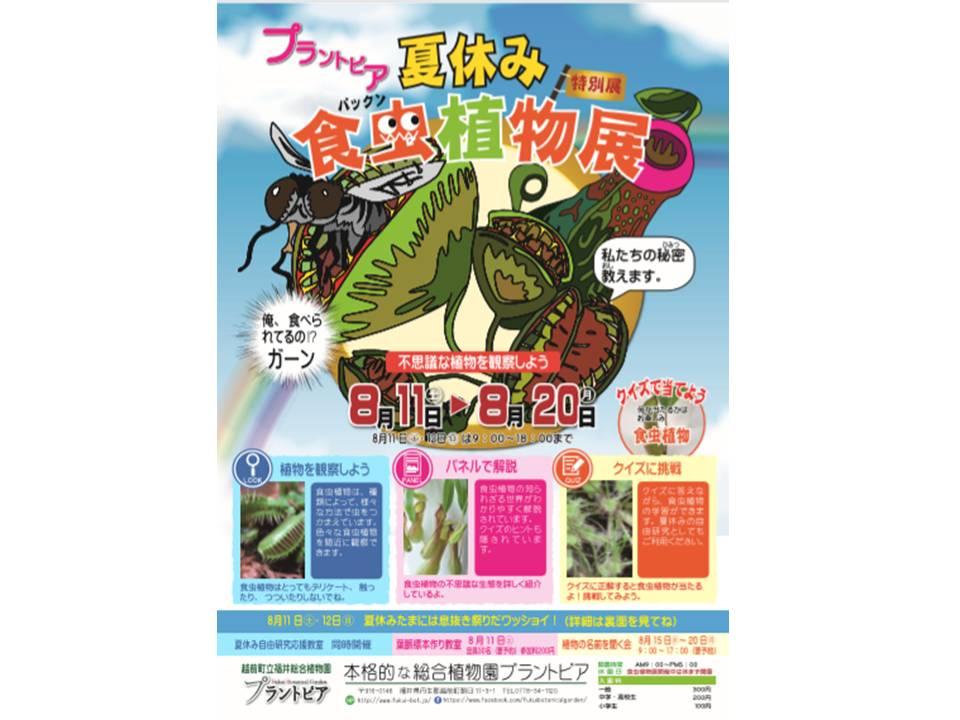 2018 夏休み特別展 「食虫植物展」(越前町)