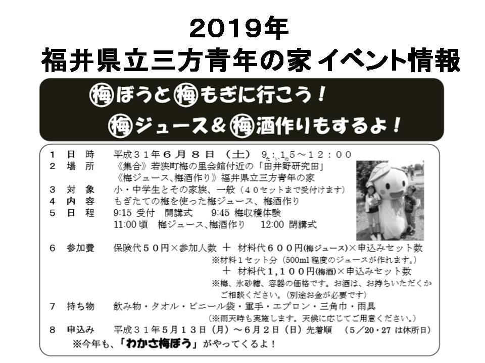 2019 梅ぼうと梅もぎ&梅 ジュース&梅酒作り!