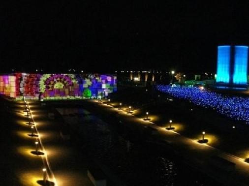 2018-2019 ライトアップ(ゆりの里公園 )(坂井市)